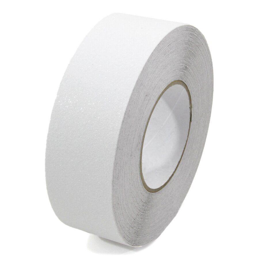 Bílá korundová podlahová páska - délka 18,3 m, šířka 5 cm a tloušťka 0,7 mm