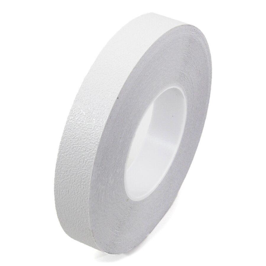 Bílá plastová protiskluzová voděodolná podlahová páska - délka 18,3 m, šířka 5 cm a tloušťka 0,58 mm
