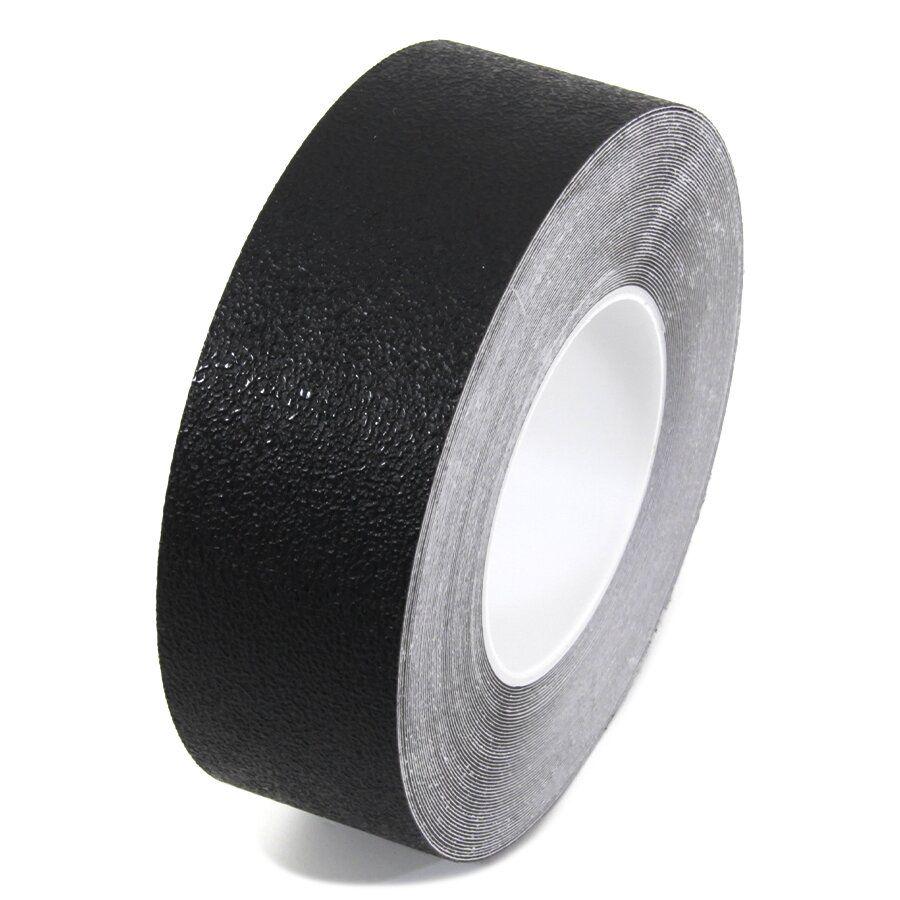 Černá plastová protiskluzová voděodolná podlahová páska - délka 18,3 m, šířka 5 cm a tloušťka 0,7 mm