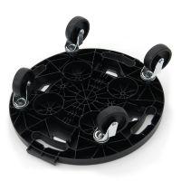 Černá plastová transportní stěhovací plošina Linea Dolly - nosnost 275 kg, průměr 37,5 cm a výška 12,5 cm