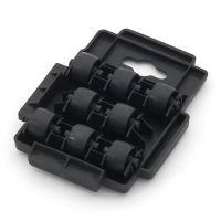 Černá plastová transportní stěhovací plošina Linea Dolly - nosnost 150 kg, délka 14 cm, šířka 10,5 cm a výška 2,5 cm