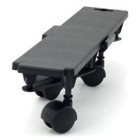 Černá plastová transportní stěhovací plošina Linea Dolly - nosnost 170 kg, 36 x 10 x 8 cm