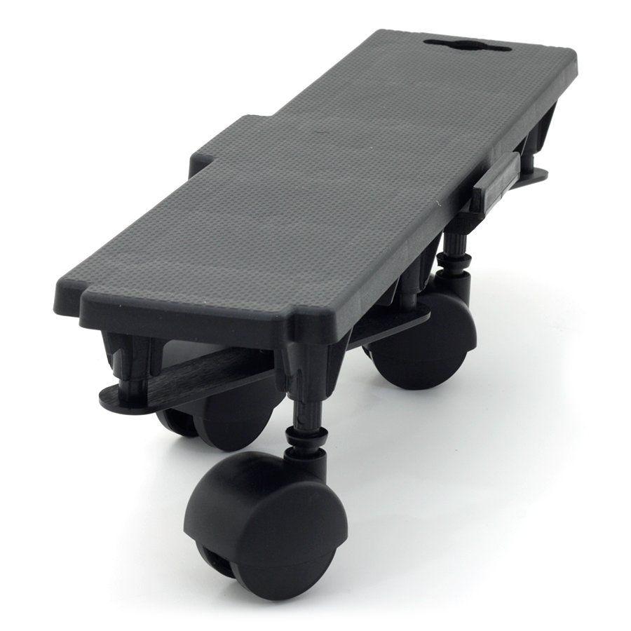 Černá plastová transportní stěhovací plošina Linea Dolly - nosnost 170 kg, délka 36 cm, šířka 10 cm a výška 8 cm