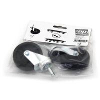 Černé plastové kolečko pro transportní plošiny - průměr 6,8 cm a šířka 2 cm - 2 ks