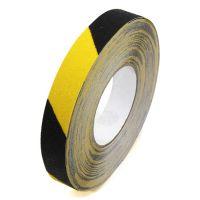 Černo-žlutá korundová podlahová páska - délka 18,3 m, šířka 2,5 cm a tloušťka 0,7 mm