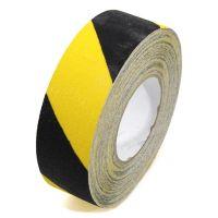 Černo-žlutá korundová podlahová páska - délka 18,3 m, šířka 5 cm a tloušťka 0,7 mm