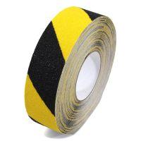 Černo-žlutá korundová podlahová páska Super - 18,3 m x 5 cm