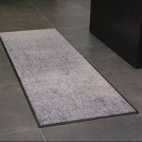 Hnědá textilní vnitřní vstupní čistící antibakteriální rohož - délka 90 cm, šířka 60 cm a výška 0,9 cm