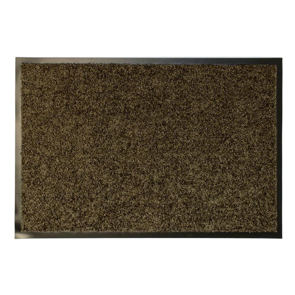 Hnědá textilní vnitřní vstupní čistící antibakteriální rohož - délka 150 cm, šířka 90 cm a výška 0,9 cm