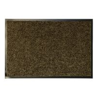 Hnědá textilní vnitřní vstupní čistící antibakteriální rohož - 90 x 60 x 0,9 cm