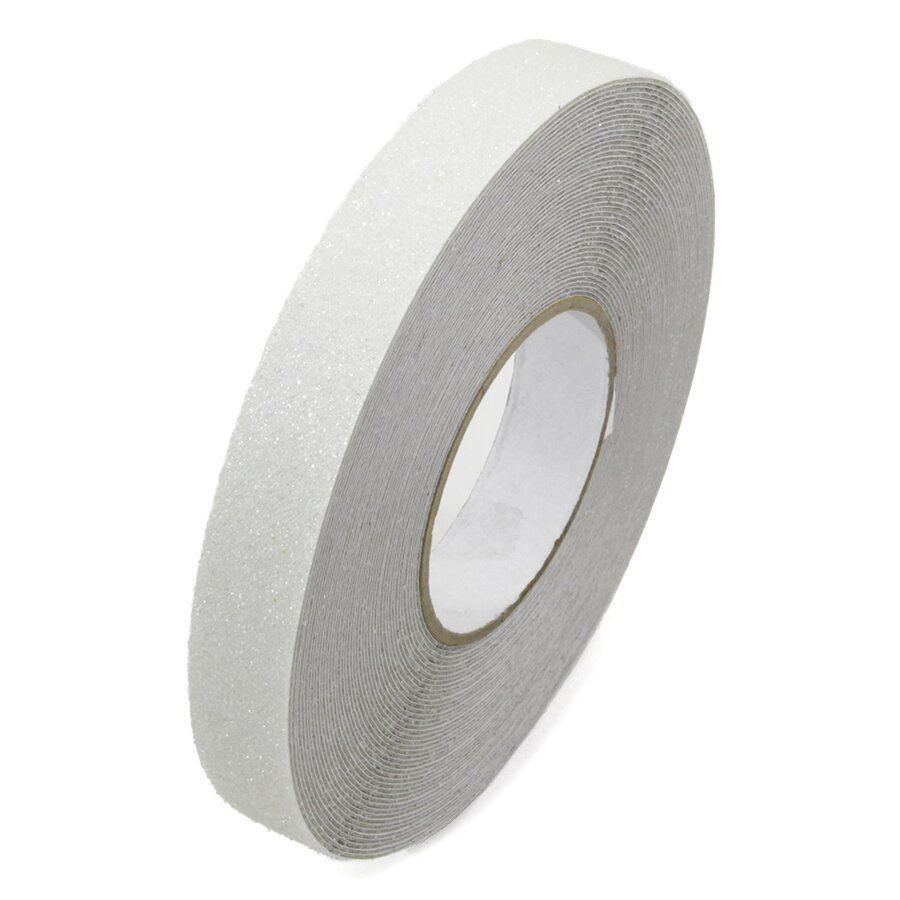 Korundová protiskluzová průhledná podlahová páska Super - délka 18,3 m, šířka 2,5 cm a tloušťka 1 mm