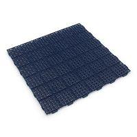 Modrá plastová děrovaná terasová dlaždice Linea Marte - 56,3 x 56,3 x 1,3 cm
