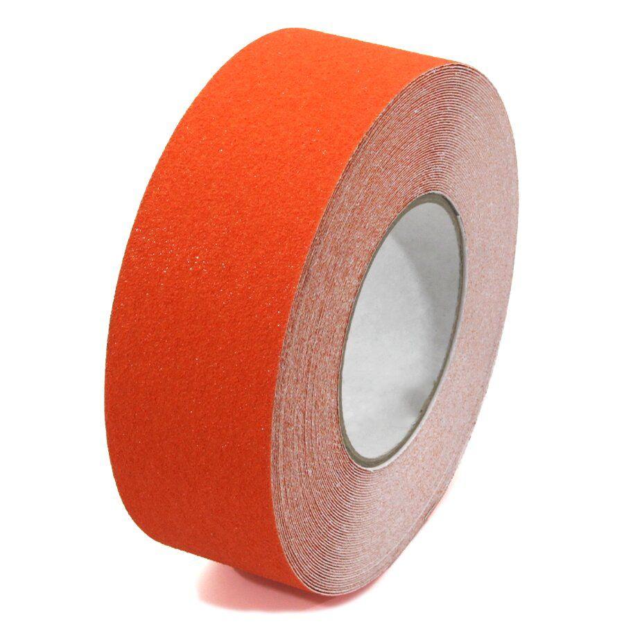 Oranžová korundová podlahová páska - délka 18,3 m, šířka 5 cm a tloušťka 0,7 mm