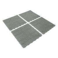 Šedá plastová děrovaná terasová dlaždice Linea Marte - délka 56,3 cm, šířka 56,3 cm a výška 1,3 cm