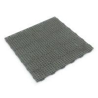Šedá plastová děrovaná terasová dlaždice Linea Marte - 56,3 x 56,3 x 1,3 cm