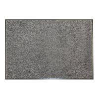 Šedá textilní vnitřní vstupní čistící antibakteriální rohož - délka 240 cm, šířka 120 cm a výška 0,9 cm