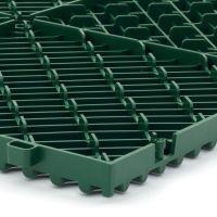 Zelená plastová terasová dlaždice Linea Rombo - délka 39,5 cm, šířka 39,5 cm a výška 1,7 cm