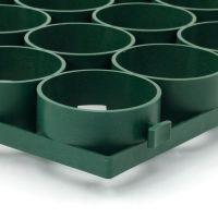 Zelená plastová zatravňovací dlažba Linea Salvaprato - délka 80,6 cm, šířka 40,7 cm a výška 3,9 cm