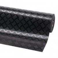Černá průmyslová olejivzdorná metrážová rohož Check 'n' Roll - 1 x 140 x 0,3 cm