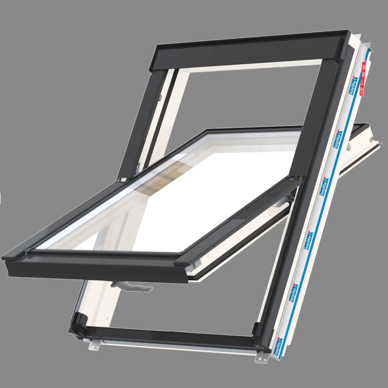 Střešní okno FLICK FIT WFCP ATG FF6 kyvné 78x140 cm dřevo bílá barva 3-sklo Argon Keylite