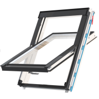 Střešní okno FLICK FIT WFCP T FF 07F kyvné 94x140 cm dřevo bílá barva 2-sklo Thermal Keylite