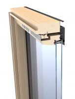 Střešní okno KEYLITE EASY BW T 03 kyvné 66x118 cm dřevo lak 3-sklo ATG Ug = 0,8W/m²K