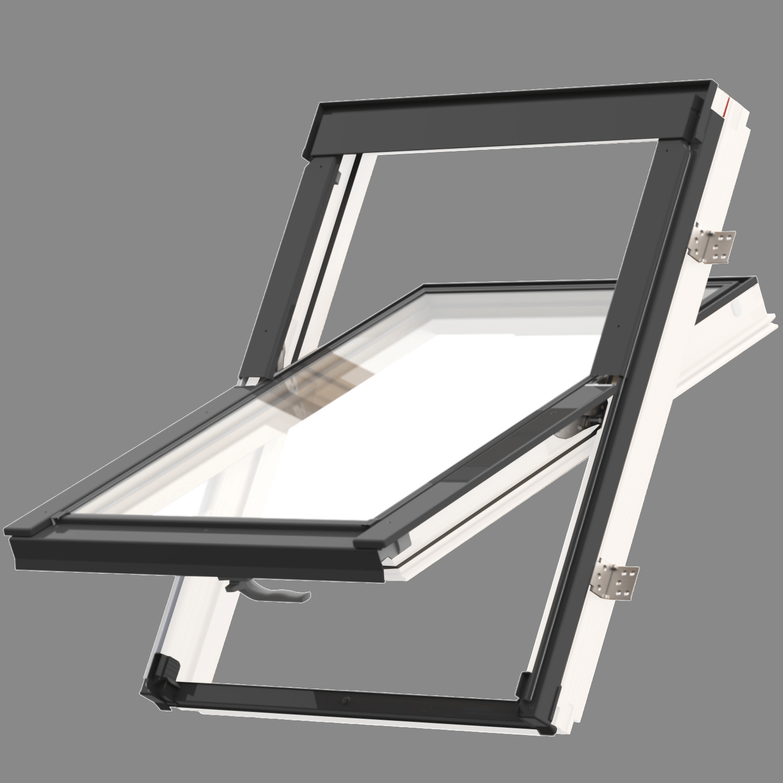 Střešní okno KEYLITE EASY WF BW T 01C kyvné 55x118 cm dřevo bílá barva2-skloThermal