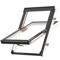 Střešní okno KEYLITE EASY WF BW T 07F kyvné 94x140 cm dřevo bílá barva2-skloThermal