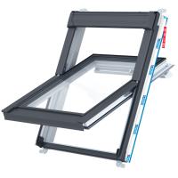 Střešní okno KEYLITE PCP ATG01C kyvné 55x118 cm PVC bílé 3-sklo Argon