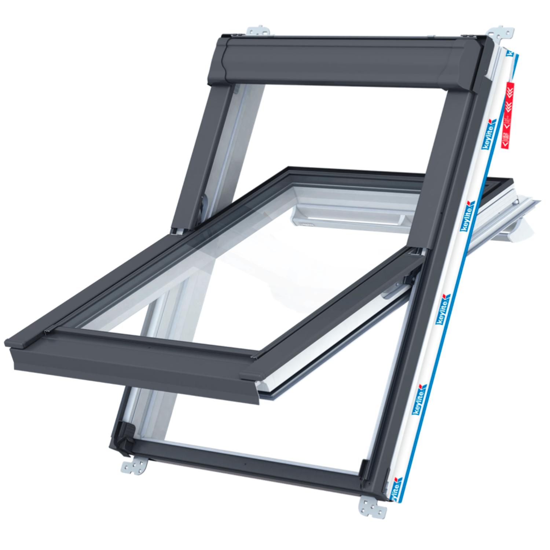Střešní okno KEYLITE PCP ATG6 kyvné 78x140 cm PVC bílé 3-sklo Argon