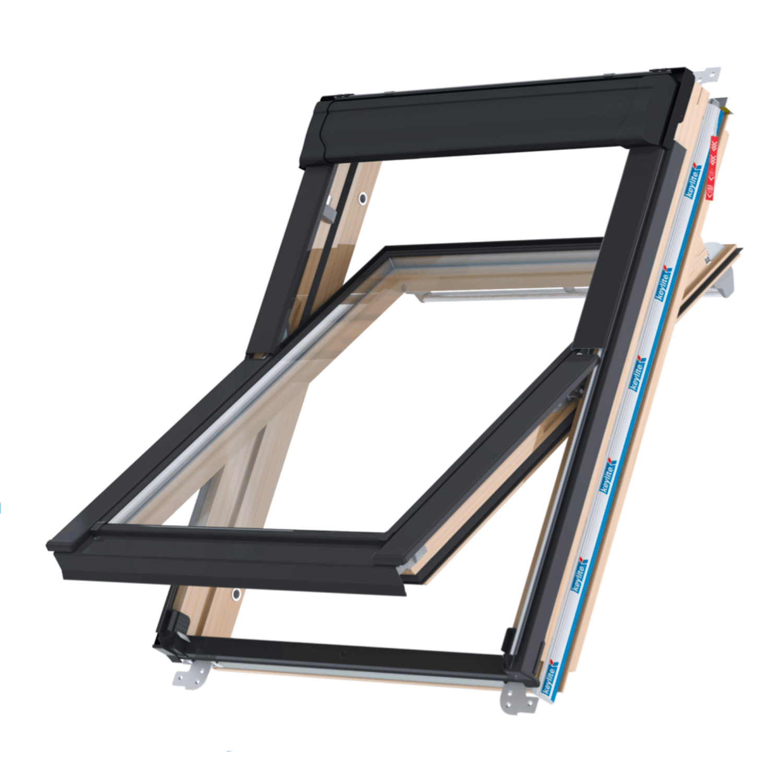 Střešní okno KEYLITE PROFESIONAL CP T FF06 kyvné 78x140 cm dřevo lak 2-sklo Thermal