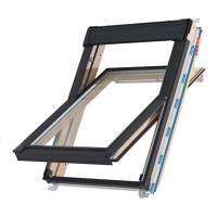 Střešní okno KEYLITE TCP ATG6 kyvné 78x140 cm dřevo lak 3-sklo Argon