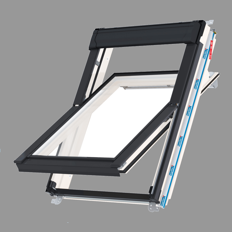 Střešní okno KEYLITE WFCP ATG01C kyvné 55x118 cm dřevo bílá barva 3-sklo Argon
