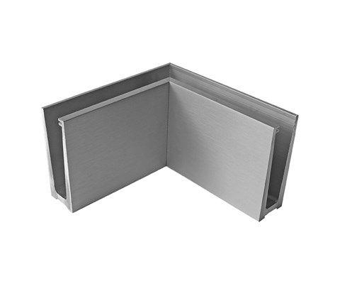 Roh kotvení vrchní vnitřní - sklo hliník AL/ELOX/Satin L195mm
