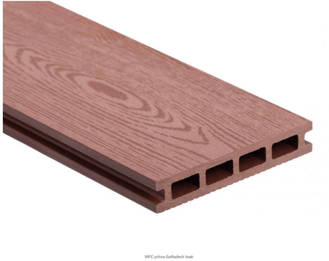 Dřevoplastová deska - teak 140x25x2900mm