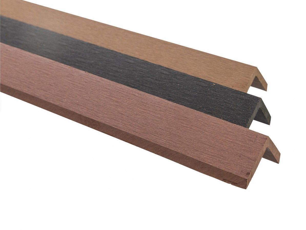 Ukončovací lišta WPC 40 x 40 x 2900 mm dubově hnědá