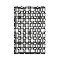 Černá plastová zatravňovací dlažba STELLA PADD - délka 57 cm, šířka 38 cm a výška 4 cm