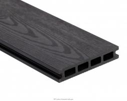 Dřevoplastová deska - tmavě šedá  140x25x4000mm