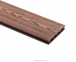 Dřevoplastová deska - dubově hnědá  140x25x4000mm
