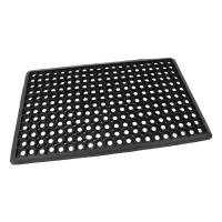 Gumová vstupní venkovní čistící rohož FLOMA Honeycomb - Edge - 45 x 75 x 1,5 cm
