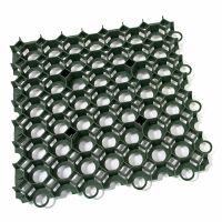Zelená plastová zatravňovací dlažba STELLA GREEN - délka 50 cm, šířka 50 cm a výška 4 cm