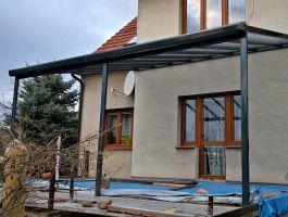Hliníková pergola Terrassendach Original - 3,06 x 3,06 m - bílá