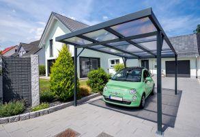 Přístřešek na auto Carport Premium A -antracit / Clima blue - 16mm