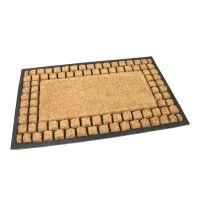 Gumová kokosová vstupní rohož Rectangle - Squares - 75 x 45 x 2,2 cm