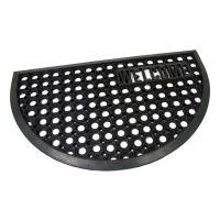 Gumová vstupní čistící půlkruhová rohož Honeycomb - Welcome - 75 x 45 x 1,5 cm