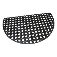 Gumová vstupní čistící půlkruhová rohož Honeycomb - 75 x 45 x 1,6 cm