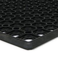 Gumová vstupní venkovní čistící rohož Honeycomb - Edge, FLOMAT - délka 40 cm, šířka 60 cm a výška 1,5 cm