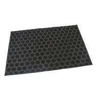 Gumová vstupní kartáčová rohož Circles - 60 x 40 x 0,7 cm