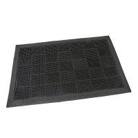 Gumová vstupní kartáčová rohož Pin Squares - 60 x 40 x 0,7 cm
