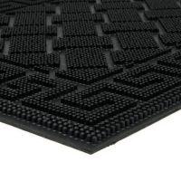 Gumová čistící venkovní vstupní rohož Rectangles - Deco, FLOMAT - délka 40 cm, šířka 60 cm a výška 0,8 cm